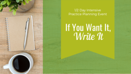 1/2 Day Intensive Planning Event