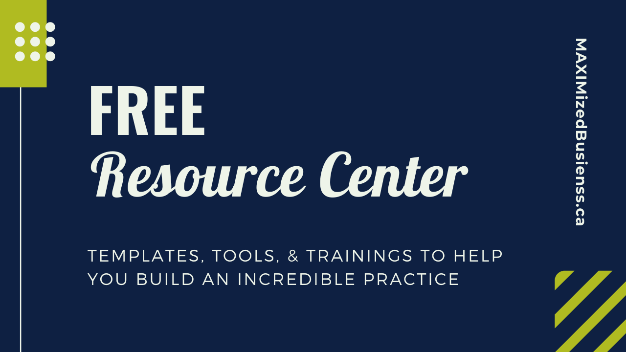 Personally, we hate having to sign up ump-teen times to get the free stuff. So we built a one-stop resource center for our MAXIMized Practitioners.  Get access to our free business building LIBRARY of e-guides, worksheets, and templates for health and wellness practitioners.  New resources added monthly!